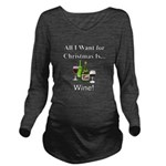 Christmas Wine Long Sleeve Maternity T-Shirt