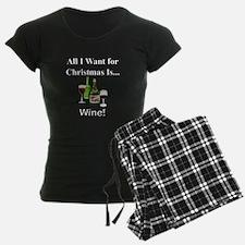 Christmas Wine Pajamas