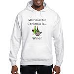 Christmas Wine Hooded Sweatshirt