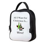 Christmas Wine Neoprene Lunch Bag