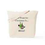 Christmas Wine Tote Bag