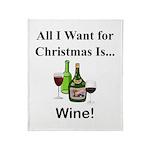 Christmas Wine Throw Blanket