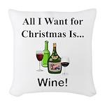 Christmas Wine Woven Throw Pillow