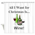 Christmas Wine Shower Curtain