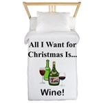 Christmas Wine Twin Duvet