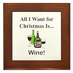 Christmas Wine Framed Tile