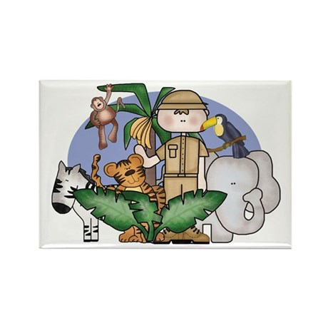 Jungle Safari Boy Rectangle Magnet (100 pack)