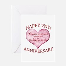 2nd Anniversary Greeting Cards