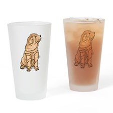 Shar Pei Drinking Glass