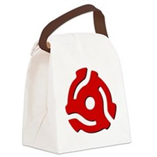 45RPM Red Adapter Canvas Lunch Bag