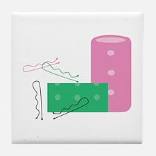Hair Curlers Tile Coaster