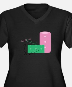 Hair Curlers Plus Size T-Shirt