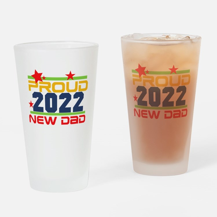 2017 Proud New Dad Drinking Glass