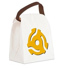 45 RPM Yellow Vinyl Adapter Canvas Lunch Bag