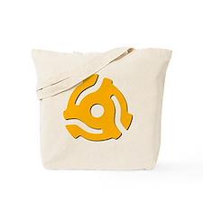 45 RPM Yellow Vinyl Adapter Tote Bag