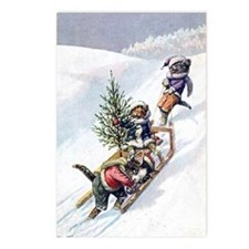 Kittens Play in The Snow Postcards (Package of 8)