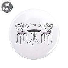 """Cafe Au Lait 3.5"""" Button (10 pack)"""