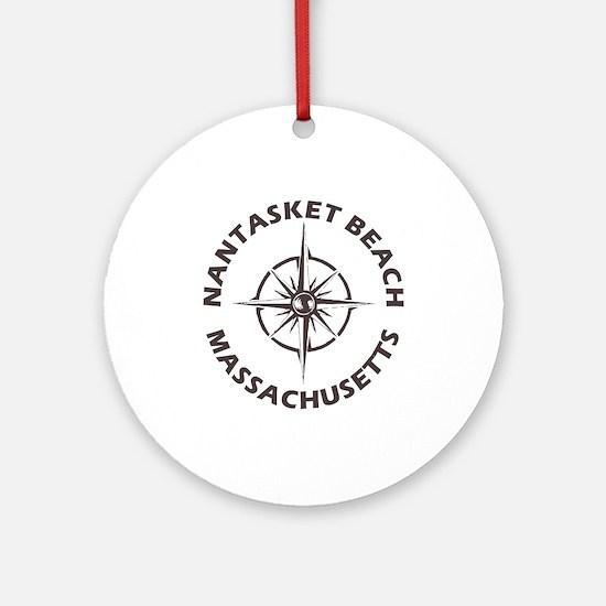 Massachusetts - Nantasket Beach Round Ornament