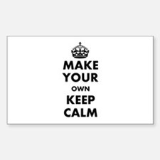 Make Your Own Keep Calm and Ca Decal