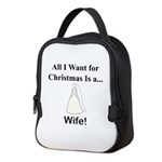 Christmas Wife Neoprene Lunch Bag