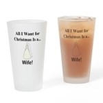 Christmas Wife Drinking Glass