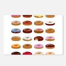 Many Donuts Postcards (Package of 8)