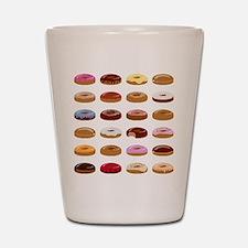 Many Donuts Shot Glass