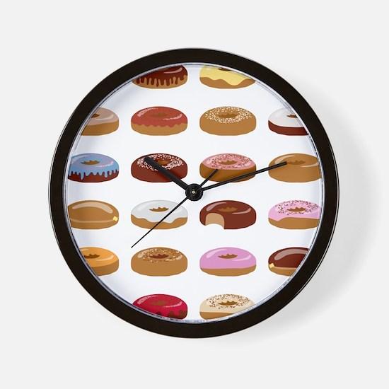 Many Donuts Wall Clock