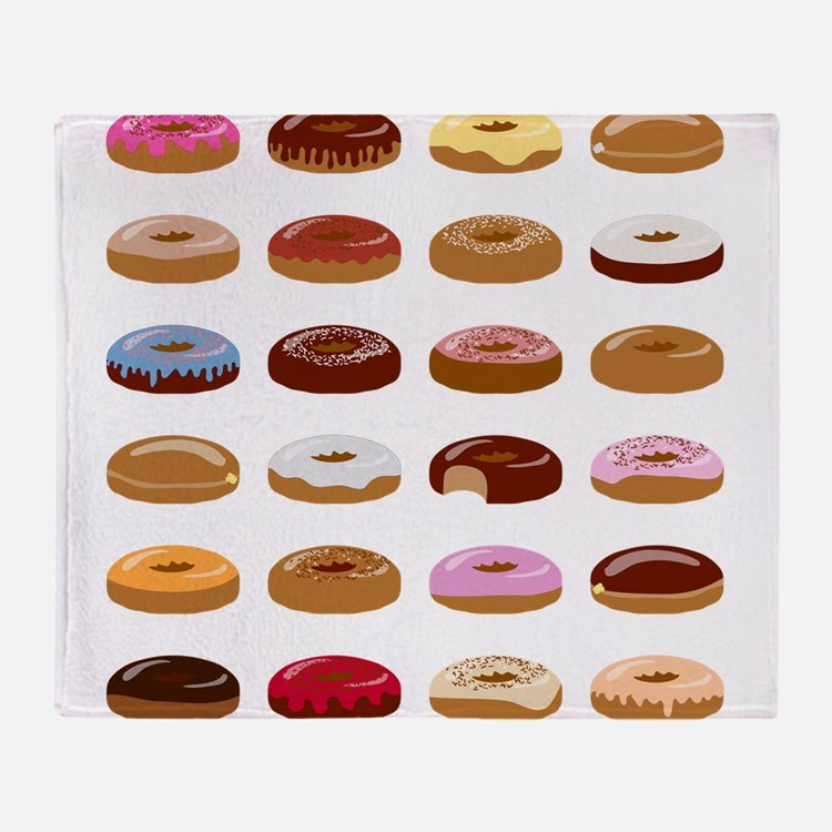 Many Donuts Throw Blanket