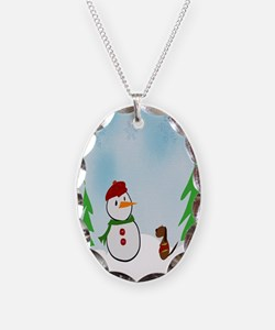 Snowman With His Dog Necklace