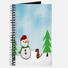 Snowman With His Dog Journal