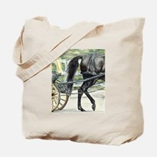 Carriage Driving Horse Tote Bag