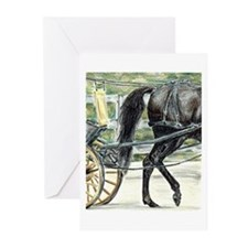 Carriage Driving Horse Greeting Cards