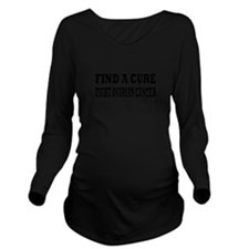 Ovarian Cancer Long Sleeve Maternity T-Shirt