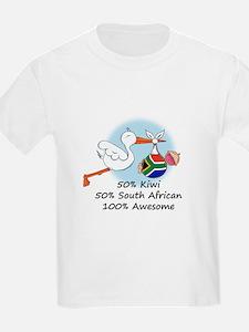 50% Kiwi 50% South African T-Shirt