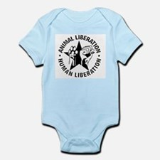 Animal Liberation Human Liberation Vegan Body Suit