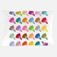 Colorful BadmintonShuttles Pillow Case