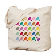 Colorful BadmintonShuttles Tote Bag