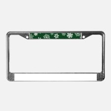 Unique Snowflake License Plate Frame