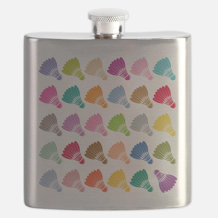 Colorful BadmintonShuttles Flask