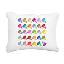 Colorful BadmintonShuttl Rectangular Canvas Pillow