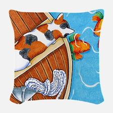 Parrotfish Woven Throw Pillow
