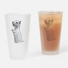 Westie Drinking Glass