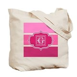 Pink monogram tote bag Canvas Bags