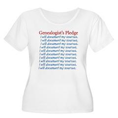 Genealogist's Pledge T-Shirt