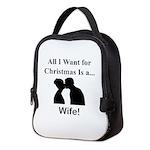 Christmas Wife Neoprene Lunch Bag