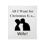 Christmas Wife Throw Blanket