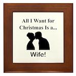 Christmas Wife Framed Tile