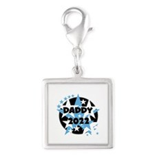Stars Daddy 2015 Silver Square Charm
