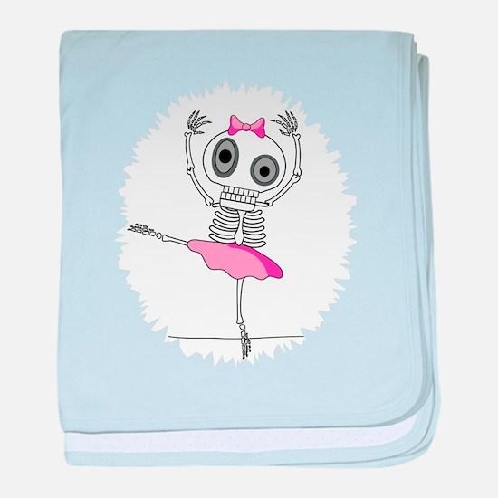 cute-skeleton-ballerina.png baby blanket